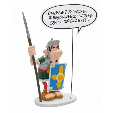 Le Romain avec la pancarte