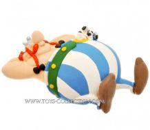 magnette-obelix-dormant-avec-idefix-plastoy