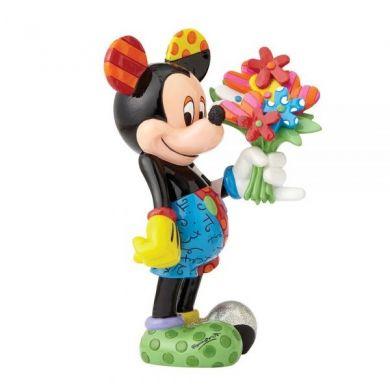 Mickey offre des fleurs Britto