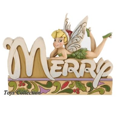 F e clochette merry figurine no l disney traditions r sine - Fee clochette noel ...