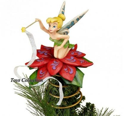 F e clochette l 39 toile figurine no l disney traditions r sine - Sapin de noel disney ...
