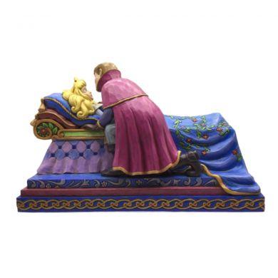 Aurore dormant sur son lit avec le Prince