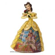 belle-avec-le-chateau-sur-sa-robe-disney-traditions
