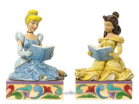 Belle et Cendrillon en serre-livres
