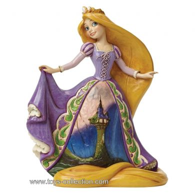 Raiponce avec sa robe décorée
