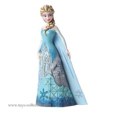 Elsa avec sa robe forteresse