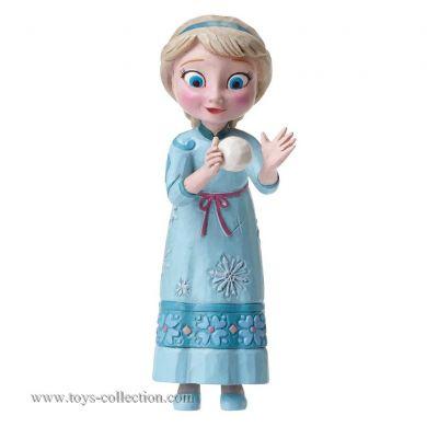 Elsa avec une boule de neige