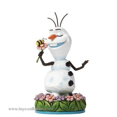 Olaf avec une fleur