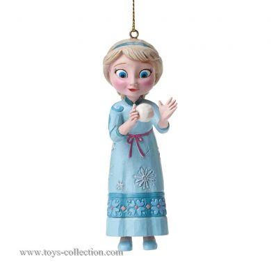 Elsa avec une boule de neige en suspension