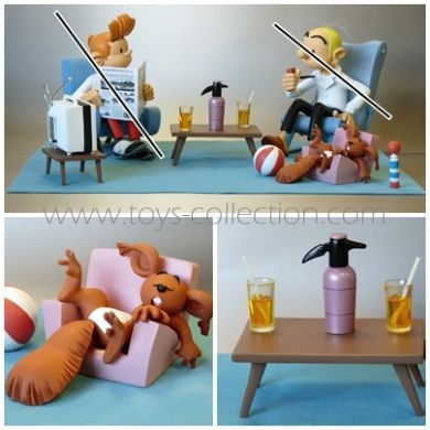 sc ne d 39 int rieur avec spip et le d cors figurine figures et vous r sine. Black Bedroom Furniture Sets. Home Design Ideas