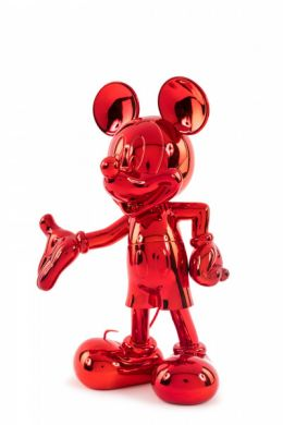 Mickey welcome rouge chromé