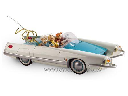 La Turbot 2 avec Spirou, Fantasio, le Comte de Champignac, Spip et le Marsupilami