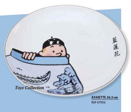 Assiette Tintin le lotus bleu