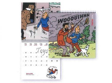 Calendrier Tintin 2014