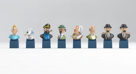 Série de 8 Bustes Tintin et ses amis