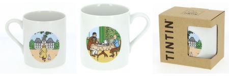 Mug Tintin et Haddock au petit dejeuner