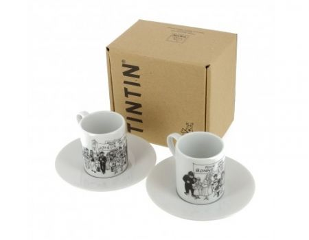 Set 2 tasses expression Tintin - carte de voeux