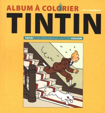 Album a colorier Tintin