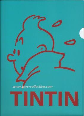 Chemise plastique Tintin silhouette bleue