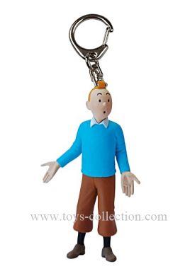 Porte-clé Tintin pull bleu PM