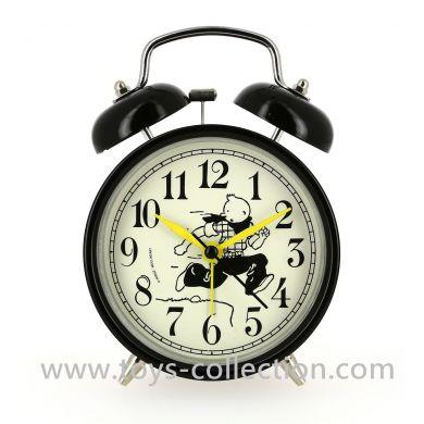 Réveil vintage Tintin court en cow-boy