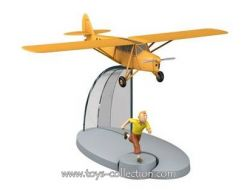 avion-orange-des-cigares-du-pharaon-et-tintin