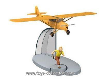 Avion orange des Cigares du Pharaon et Tintin