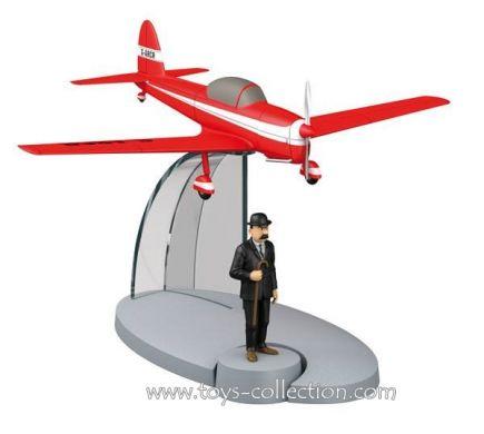 Avion rouge de l'Ile Noire et Dupont