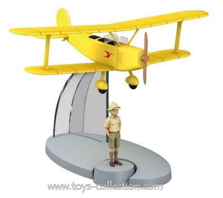 Biplan jaune de Tintin au Congo