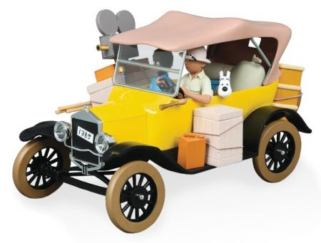 Ford T jaune Tintin au Congo