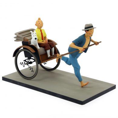 Tintin et le pousse pousse