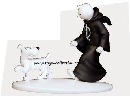 Tintin en toge et Milou, en Inde