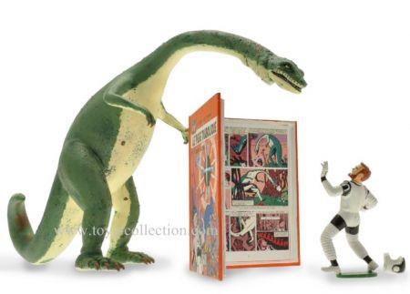 Mortimer et le dinosaure dans Le piège diabolique