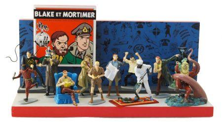 Présentoir Bois pour collection origine Blake et Mortimer