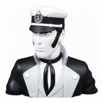 Corto Maltese buste moir et blanc