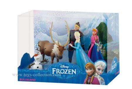 Coffret avec Elsa, Anna, Kristoff, Olaf et Sven