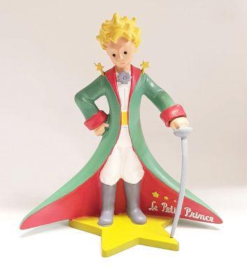 Le petit Prince avec cape et épée sur socle