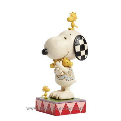 Snoopy Woodstock et les oiseaux