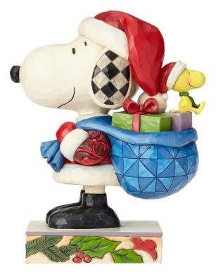 Snoopy et Woodstock en père Noël
