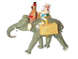 Astérix et Obélix sur l'éléphant