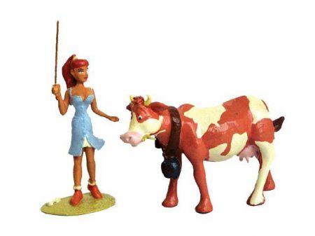 Babette sortant la vache.