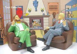 Blake et Mortimer dans les fauteuil version cuir + décor ''club'' #