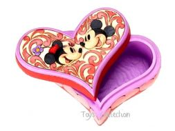 Boite coeur Mickey et Minnie