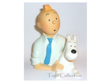 Buste Tintin chemise bleue #
