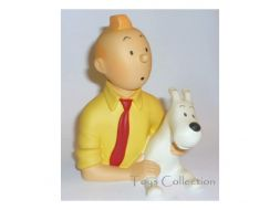 Buste Tintin chemise jaune #
