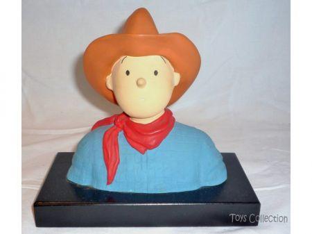 Buste Tintin cow boy