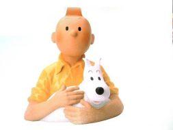 Buste Tintin et Milou #