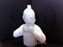 Buste Tintin ferme son col (mat)
