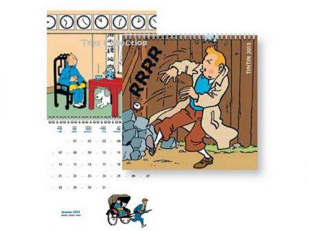 Calendrier 2013 Tintin