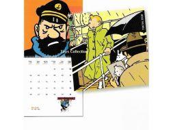 Calendrier  Tintin 2008